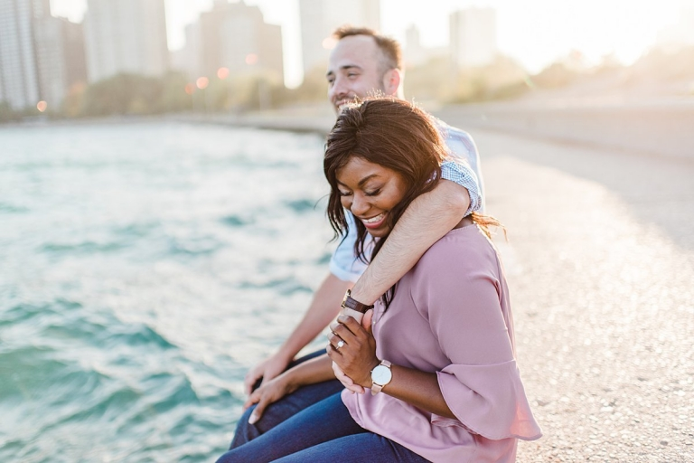 North Avenue Beach Engagement Photographers