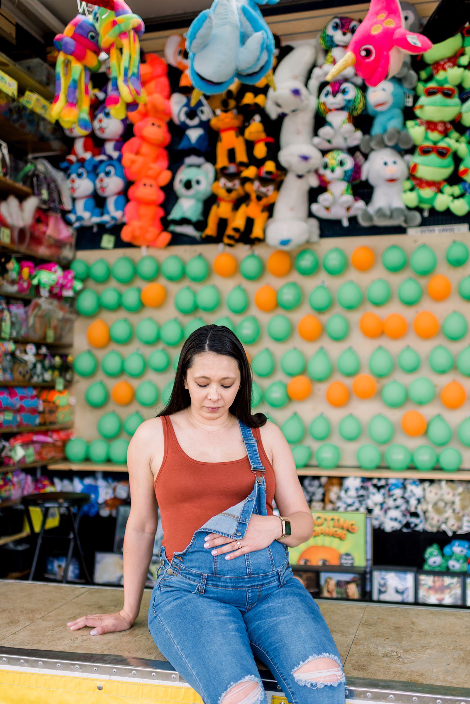 Madison, WI Carnival Maternity Session - Larissa Marie Photograhy