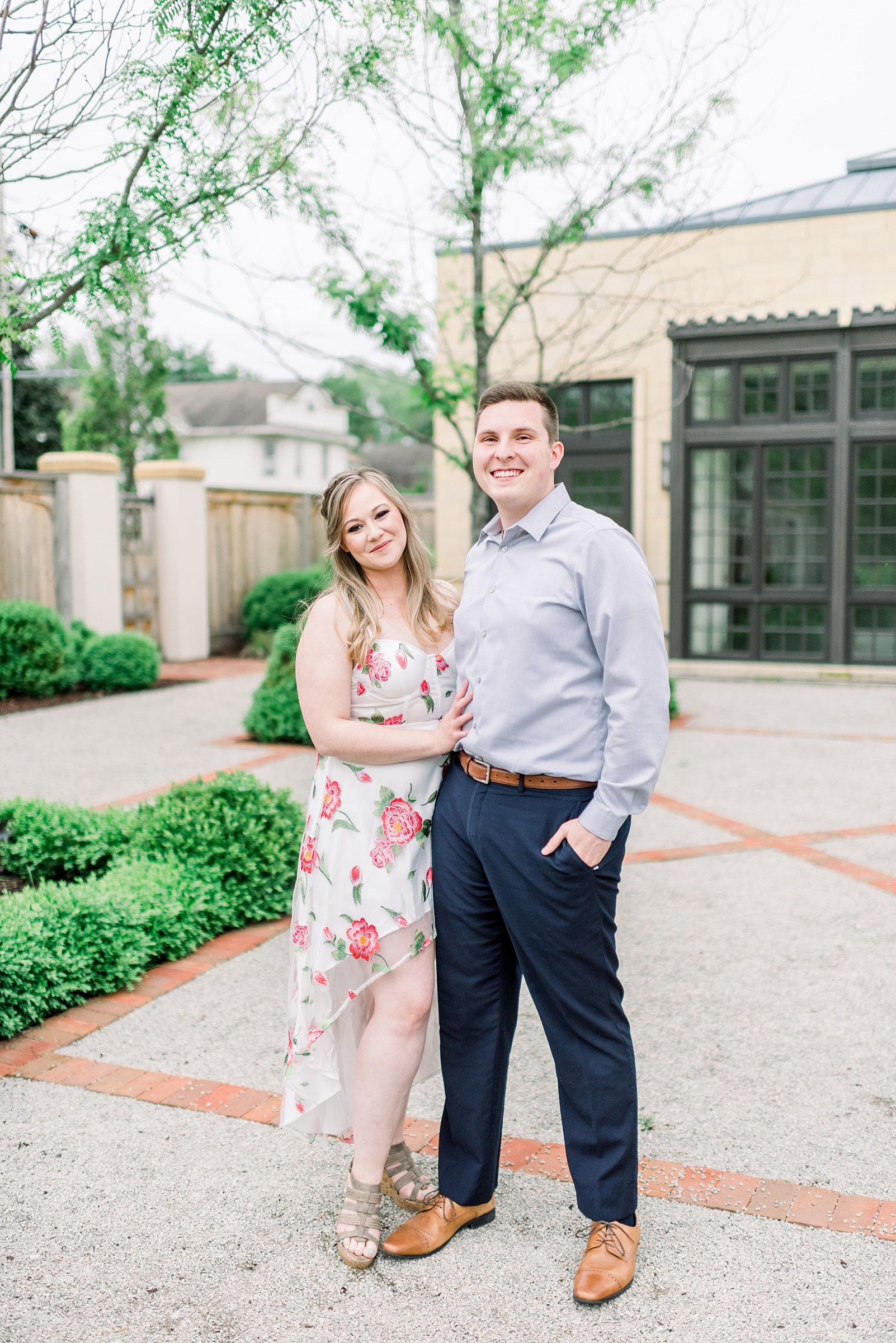 Paine Art Center and Gardens Engagement Session