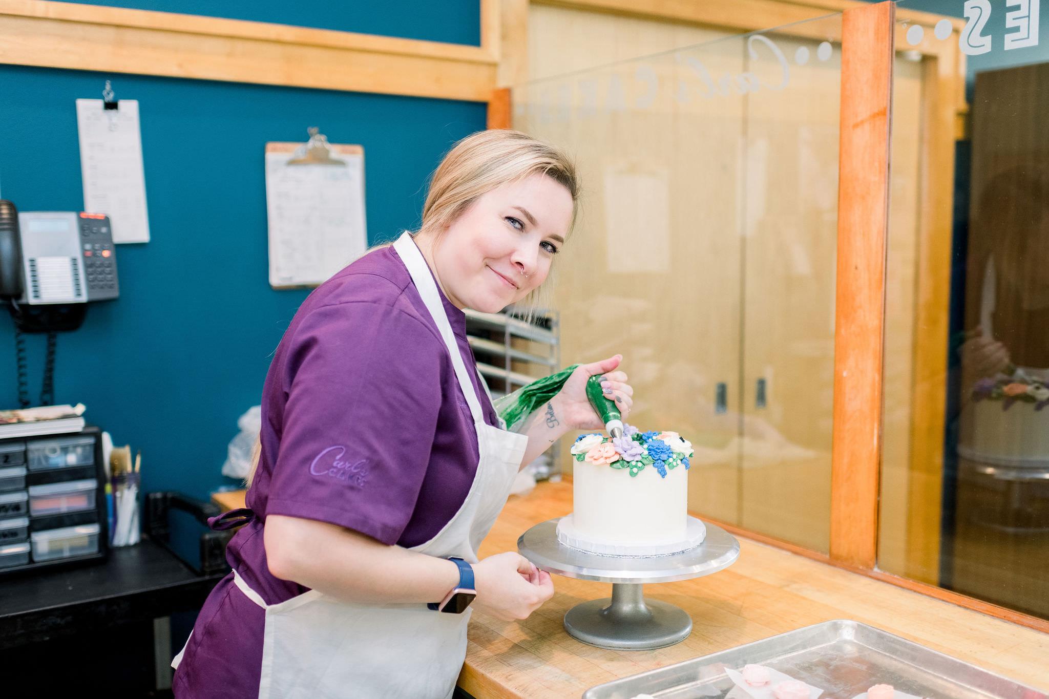 Kayla at Carl's Cakes